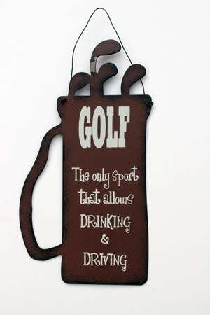 tin golf sign humour