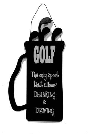 humor: poster golf sign Stock Photo