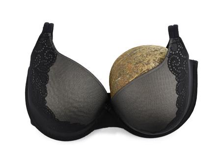 One breast breast cancer concept half empty bra after amputation surgery Banco de Imagens