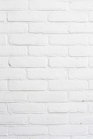 White brick wall background texture Banco de Imagens