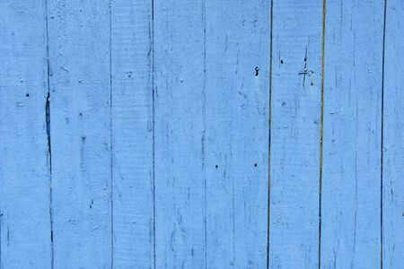 Blue wooden planks background old vintage wood of a blue beach house