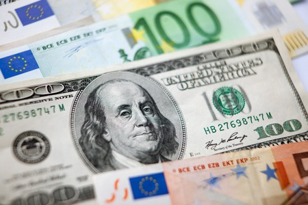 US Dollar and Euro currency