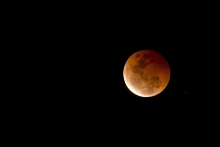 Blood Moon - Lunar Eclipse on October 8, 2014 Australia