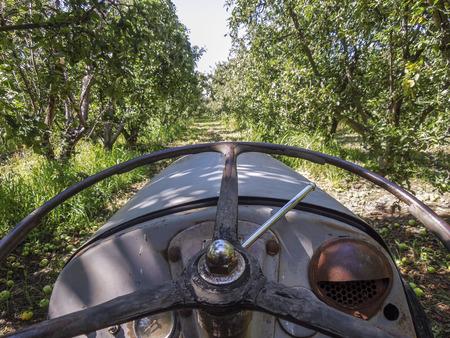 Old tractor on a farm in Shepparton, Victoria, Australia Stock Photo