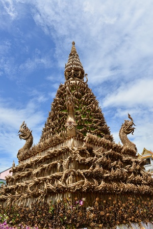 natural materials: The pagoda is made with the natural materials Stock Photo