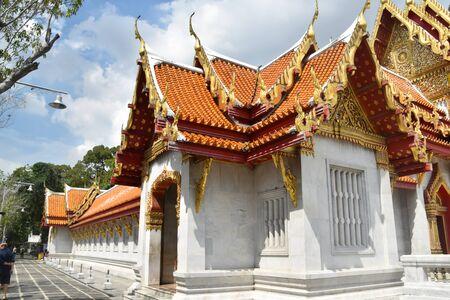 Wat Benchamabophit , Marble Temple, Bankok, Thailand, Stock fotó