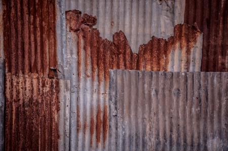 old galvanized iron wall texture photo