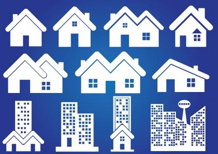 homeand real estate icon vetor background Vettoriali