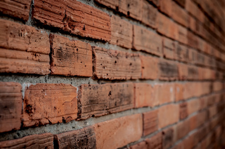 Old wall brick texture Perspective photo