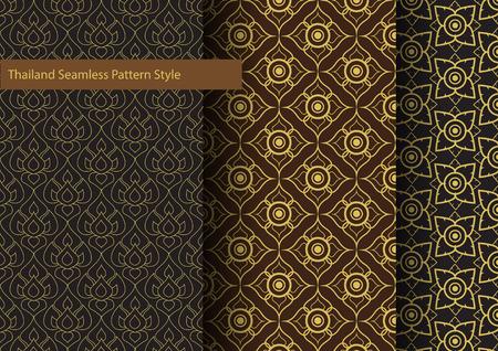 Thailand Basic Seamless Pattern Style Vector