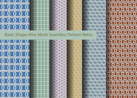 wire mesh: Basic Shape Wire Mesh Seamless Pattern Illustration