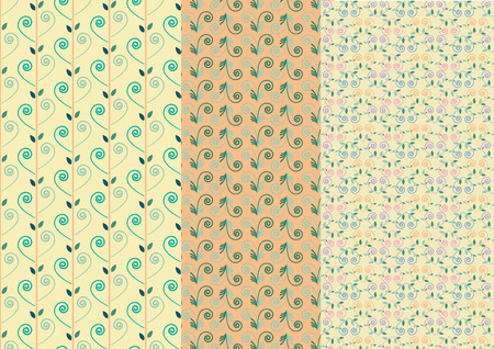 flora: Flora abstract retro seamless pattern Illustration