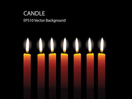 budha: Candle Light On Black Background