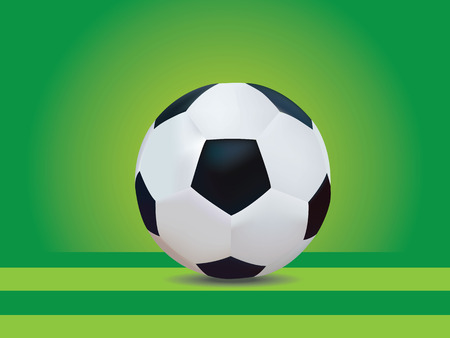 Soccer with yellow and green background Vector