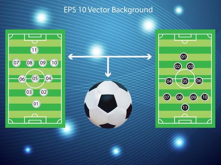 soccer coach: Soccer Plan board illustration Illustration