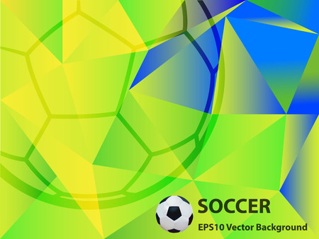 futsal: Abstract Soccer Background Vector Illustration