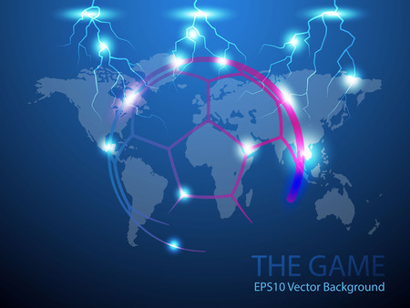 Abstract Soccer Background and world map