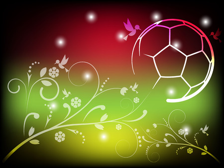 Abstract Background Flora And Soccer Vector