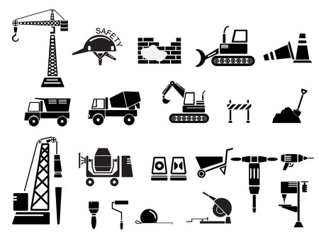 Construction Icon Set Vector Illustration Vector