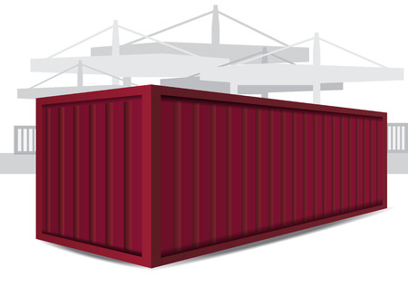 Red Container Vector Illustration