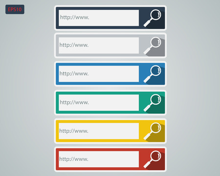 Search Bar with Colorful Color Set  Vector