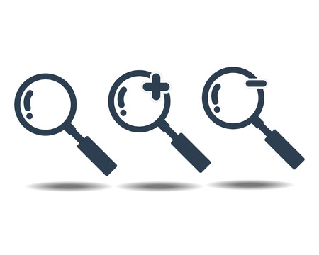 Magnifying Glass icon Isolate on White Background Vector