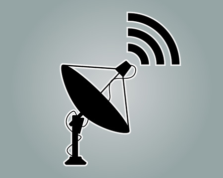 위성 접시 아이콘 기호