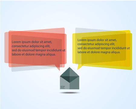 speach: Envelope Icon Symbol with Colorful Speach Bubble