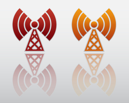 Wifi Icon with Reflection Vector