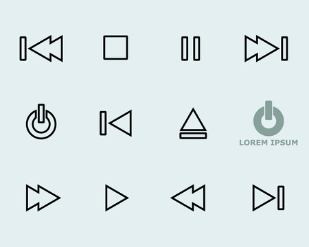 Media Player Icon Symbol Vector Vector