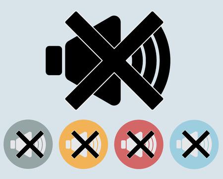 Sound Mute , Speaker off Icon Symbol Vector Vector