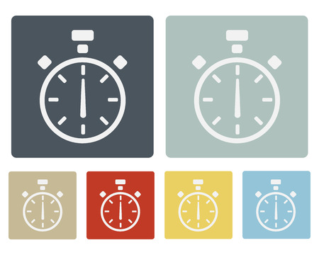 Stop Watch Icon Symbol Set Vector Illustration