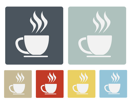 Coffee Cup Icon Symbol Set Vector Vector
