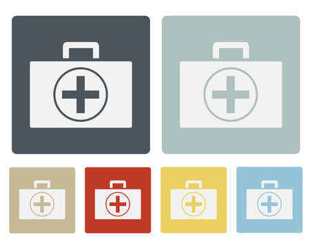 First aid Box Icon Symbol Vector Set Vector