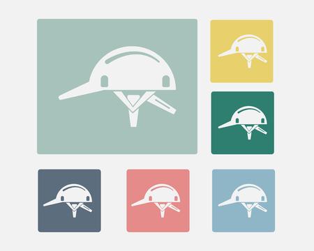 Hard Hat Icon Symbol Set Vector, Safety Concept Vector