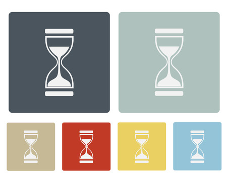 Hourglass,Sand Clock Icon Symbol Vector Set Vector