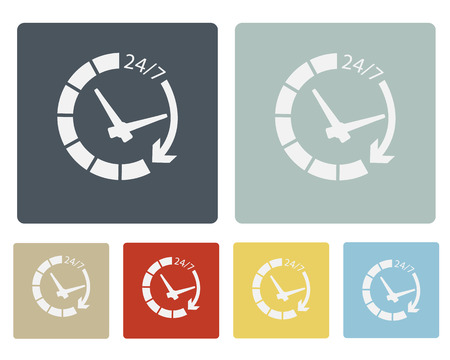 Time Icon Symbol Vector Illustration Set Vector