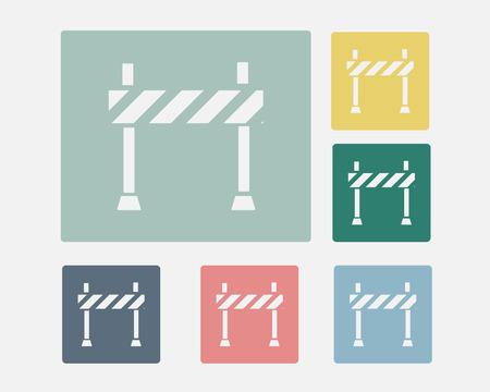 Road Barrier Icon Symbol Vector Set Vector