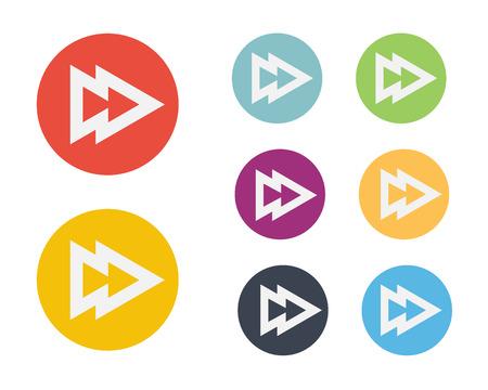 forward icon: Flat Forward Icon Symbol Vector Illustration Illustration