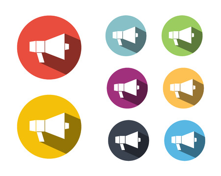 Loud Speak,Megaphone Icon Symbol Vector Illustration