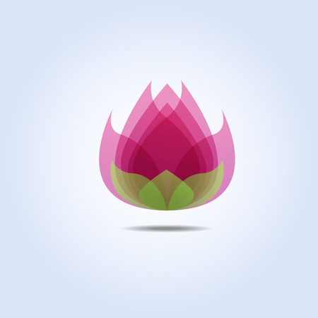 Pink Lotus Flower Icon Vector Illustration Vector