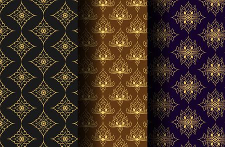 Thai Art Style Pattern Vector Illustration Vector