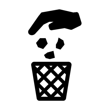 littering: Recycle Bin,Trash Can Icon Symbol Vector