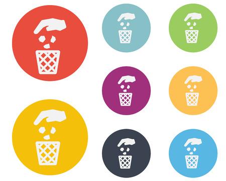 Recycle Bin,Trash Can Icon Symbol Vector