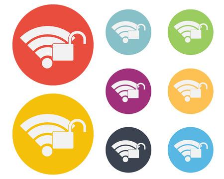 Wifi Zone Icon Symbol Vector Vector
