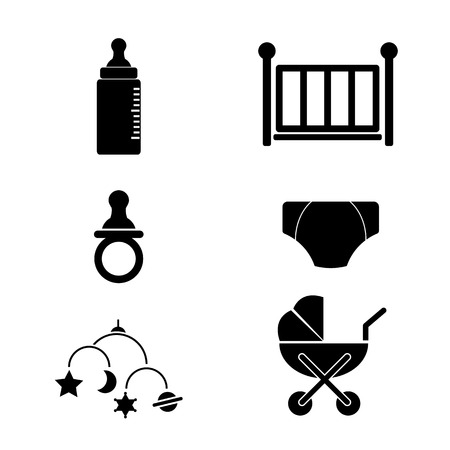 Baby Accrssories Icon Vector Set Vector