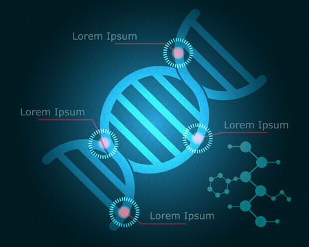 Abstract Science Background with DNA Symbol Vector