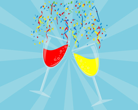 Party Background with Wine Glass Vector Vector