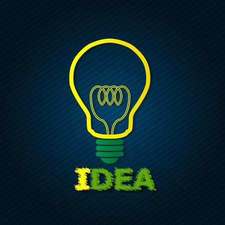 Light Bulb for Idea Concept Vector Vector