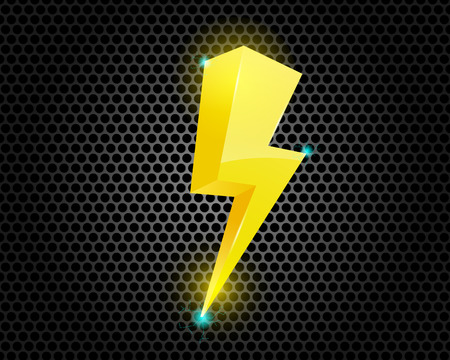 iluminacion: Trueno perno de la iluminación Símbolo Ilustración